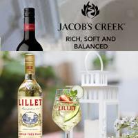 jacobs creek, shiraz, chardonnay, lillet