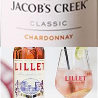 chardonnay, jacob's creek, lillet